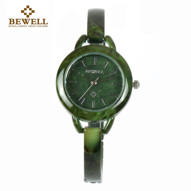 BEWELL Top Luxury Brand Women Gem Stone Bracelets Watch Ladies Jade Bracelet Wat