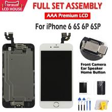 AAA LCD คุณภาพสูงสำหรับ iPhone 6 6S PLUS LCD Screen สำหรับ 6P 6SP จอแสดงผลหน้าจอสัมผัสเปลี่ยนจอแสดงผลไม่มีพิกเซลตาย