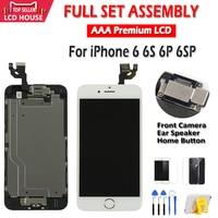 Aaa qualidade lcd para iphone 6 6 s mais tela lcd assembléia completa para 6 p 6sp display tela de toque substituição sem pixels mortos|LCDs de celular| |  -