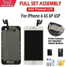 Aaa qualidade lcd para iphone 6 6 s mais tela lcd assembléia completa para 6 p 6sp display tela de toque substituição sem pixels mortos