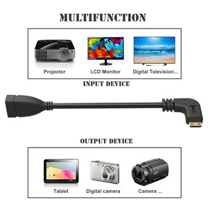 Image 5 - 90 degrés angle droit Mini HDMI vers HDMI mâle vers femelle câble pour HDTV 1080 p PS3 Evo HTC Vedio plaqué or
