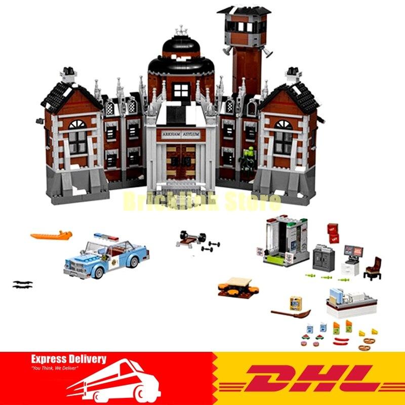 IN Stock 1628Pcs Lepin 07055 Genuine Series Batman Movie Arkham Asylum Building Blocks Bricks Toys with 70912