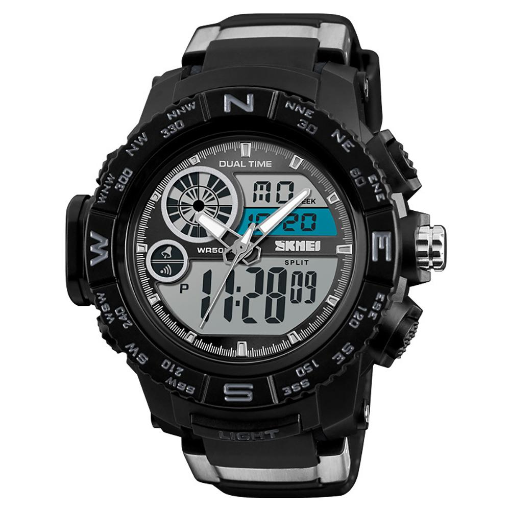 Angemessen Mode Sport Wasserdicht Dual Time Digital Analog Luminous Armbanduhr Militärische Elektronik Armee Uhr Uhren Dropshipping Komplette Artikelauswahl