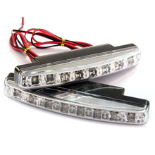 Daytime Running Light  1 pair  12V 8W 8LED Waterproof External Led Car Styling Car Light Source Fog Bar Lamp White color safety 2pcs auto car fog light lamb led daytime running light headlight external light for skoda citigo 2012 2013 12v car light source