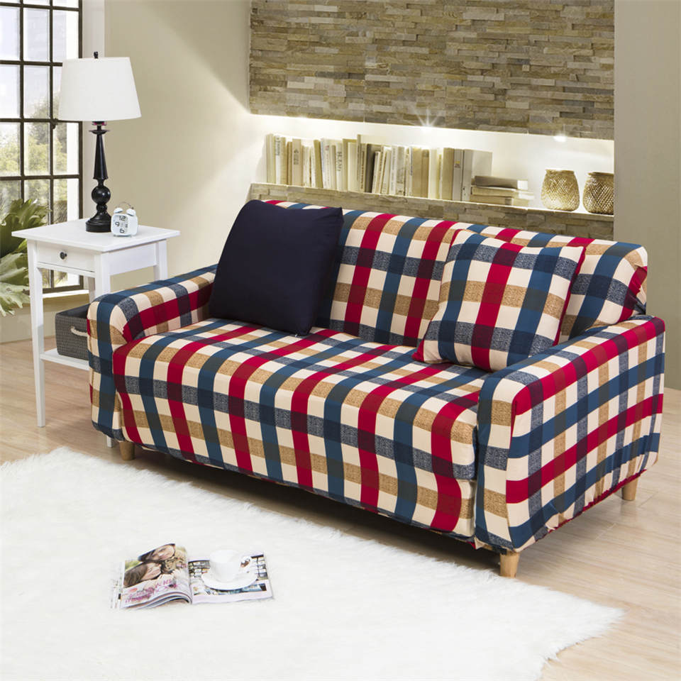 popular plaid sofa cover buy cheap plaid sofa cover lots. Black Bedroom Furniture Sets. Home Design Ideas