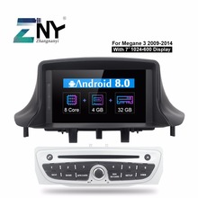 7″ IPS Android 8.0 Car DVD 1 Din Autoradio For Megane 3 2009 2010 2011 2012 2013 2014 Fluence GPS Navigation Free Backup Camera