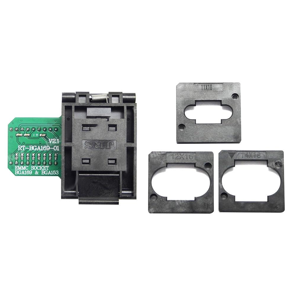 Quality A T BGA169 01 BGA169 BGA153 EMMC Adapter V2 1 With 3pcs BGA bounding box