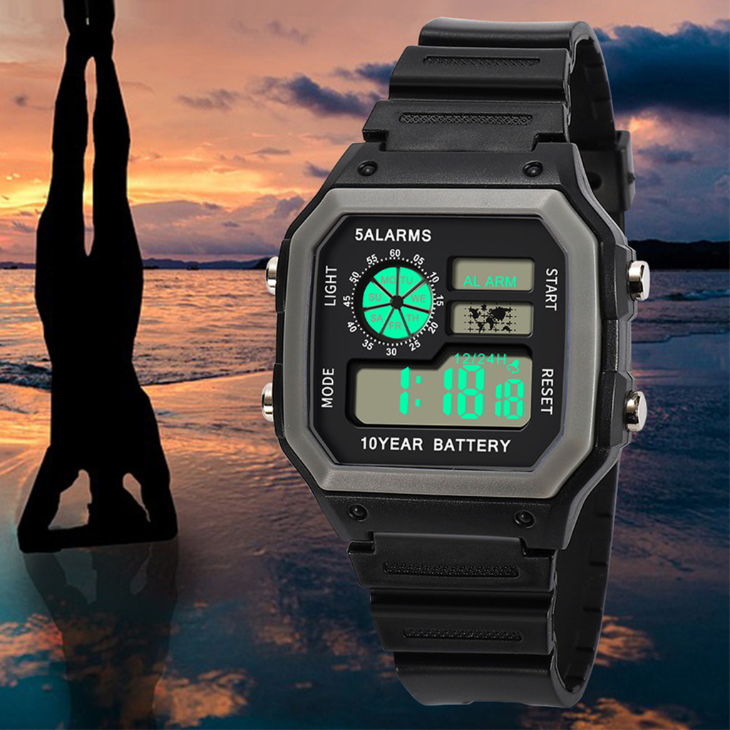 Fashion High-End Multi-Function 30M Sports Waterproof Sport Watch Electronic Digital Watch Gifts Men's Wrist Luminous Watch For