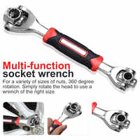48-in-1 Universal Wrench 360 Degree 6-Point Tiger Wrench Tools Socket Works With Spline Bolts Torx Furniture Car Repair