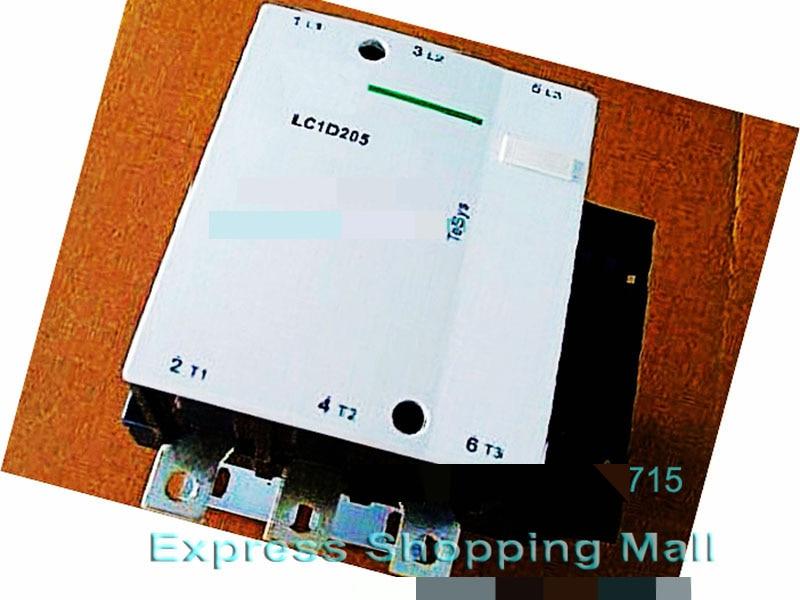 New LC1D205Q5C TeSys D Contactor 205A AC 380V 50Hz LC1-D205Q5C new cad32mdc dc220v tesys d series contactor control relay 3no 2nc
