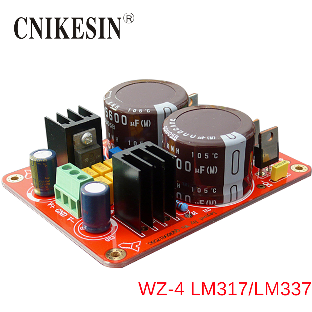 CNIKESIN WZ-4 LM337 Precision adjustable voltage of plus or minus the machine regulated power supply diy suite LM317
