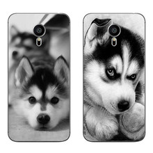 For Meizu MX4 MX5 MX6 Pro 5 6 Phone Case M1 M2 M3 Note MEILAN E Mini Shell Transparent Cover Soft Silicon Strange Husky Pattern