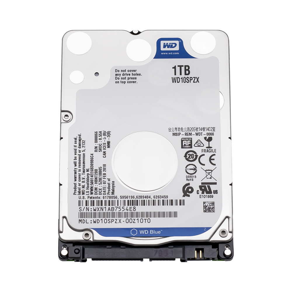 WD Western Digital Blue 1 tb hdd 2.5 SATA WD10SPZX disco duro Sabit Interna del computer portatile Hard Disk Drive Interno HD notebook Hard Disk