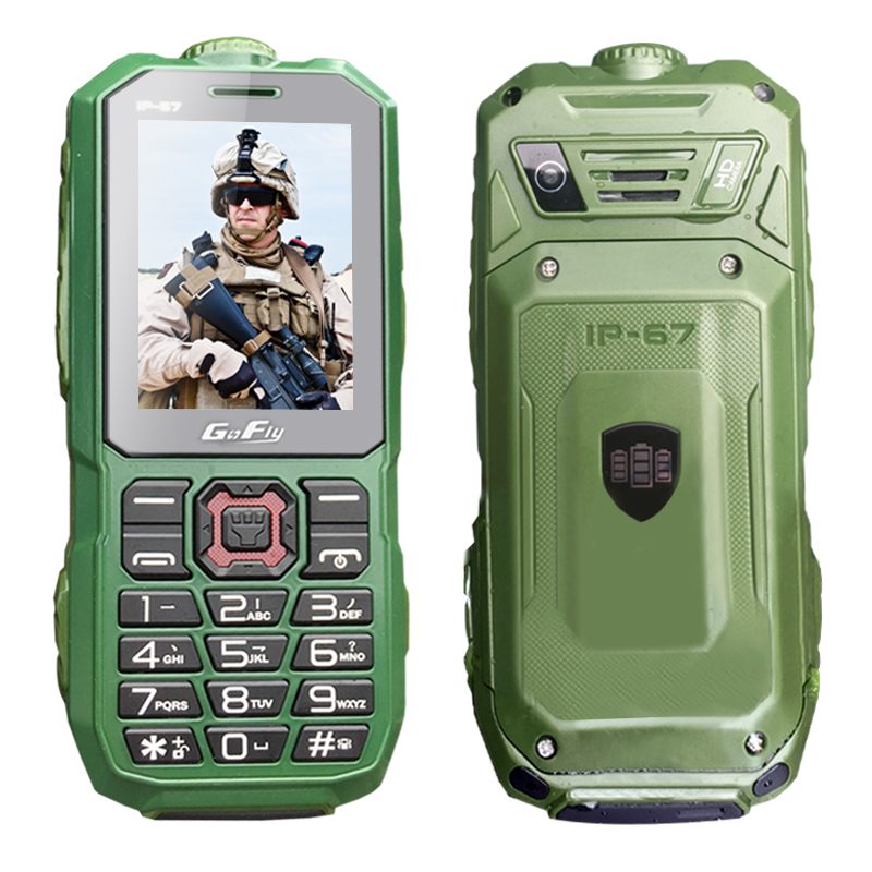 GOFLY A8S Waterproof IP67 long standby cellphone flashlight recorder FM dual SIM dustproof shockproof rugged mobile