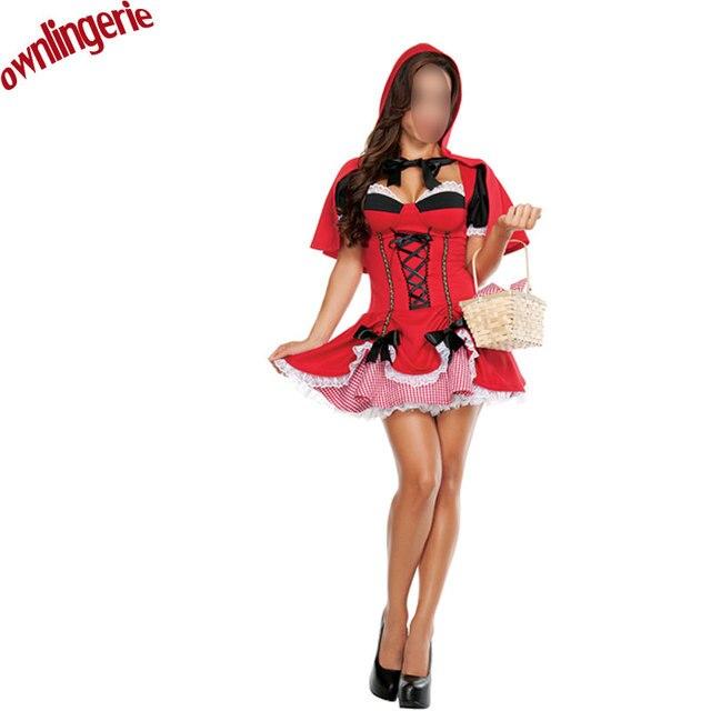 1e590efa US $19.73 9% OFF|Cosplay Party/Halloween mała Czerwony Kapturek kostium,  krótka spódniczka z Xmas Czerwony Kapturek kostium, oszukany Fancy Dress w  ...