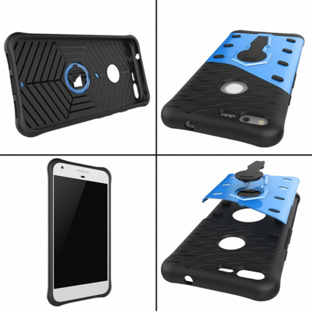 For Google Pixel Case Rugged Heavy Duty 360 Rotating Stand Sniper Hybrid Cases For Google Pixel XL Hard Back Combo Cover