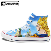 All Star Converse Women Men Shoes Dragon Ball Son Goku Design Hand Painted Shoes Woman Man Canvas Sneakers Cosplay Gifts