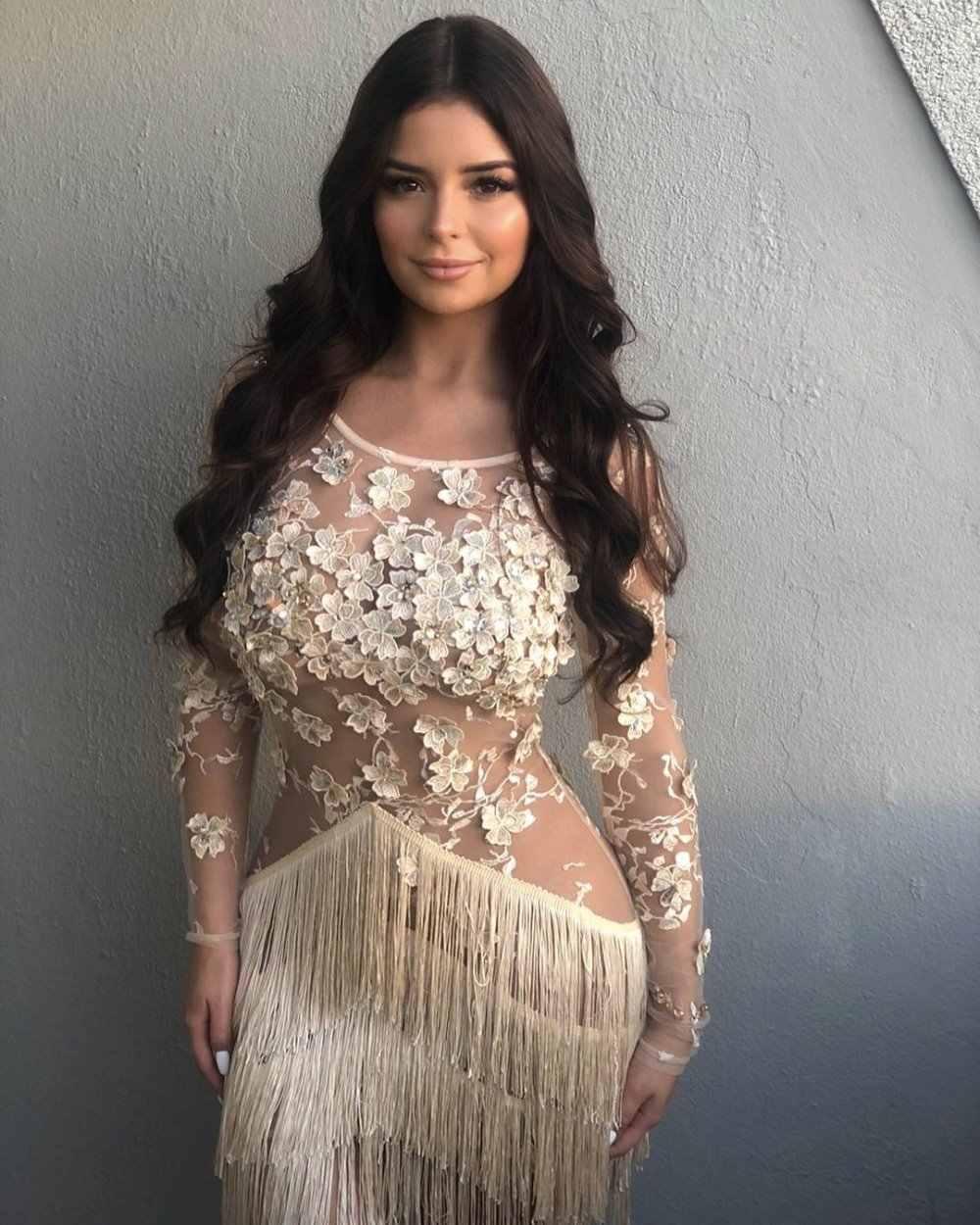 Фото Высококачественное сексуальное кружевное элегантное платье знаменитостей с