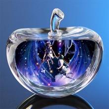 Crystal Glass Apple Figurines