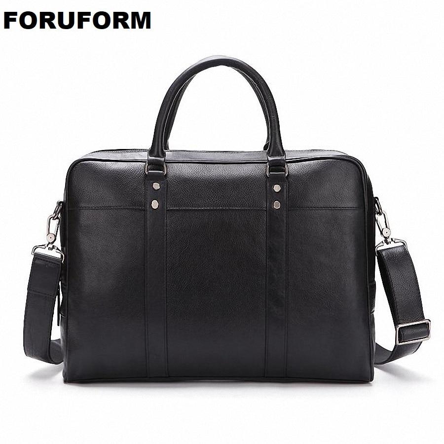 2018 New Arrival Famous Brand Business Men Briefcase Bag PU Leather Laptop Bag Briefcase Male PU Leather Shoulder bags LI-2180