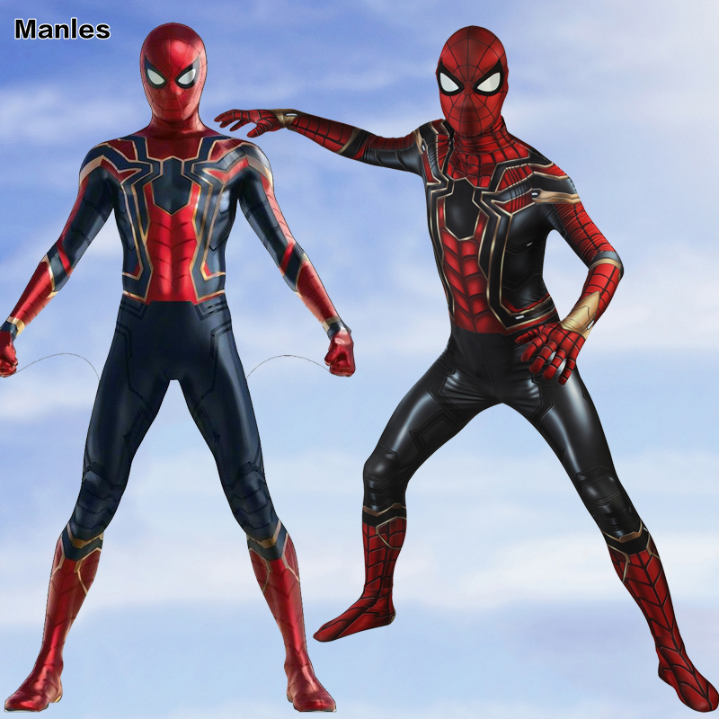 Spider Man Peter Parker Cosplay Costume Avengers Infinity War Superhero Spider Man Jumpsuit Halloween Clothes Spiderman