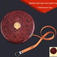 Bakelit shell hochrangige leder band 10/20/30/50 mt leder maßband