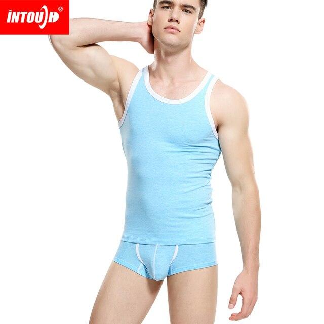Новый INOUCH мужская жилет основной облегающие мода жилет 100% хлопок летом мода sexy верхней части бака только жилет 3 цвета M, L, XL