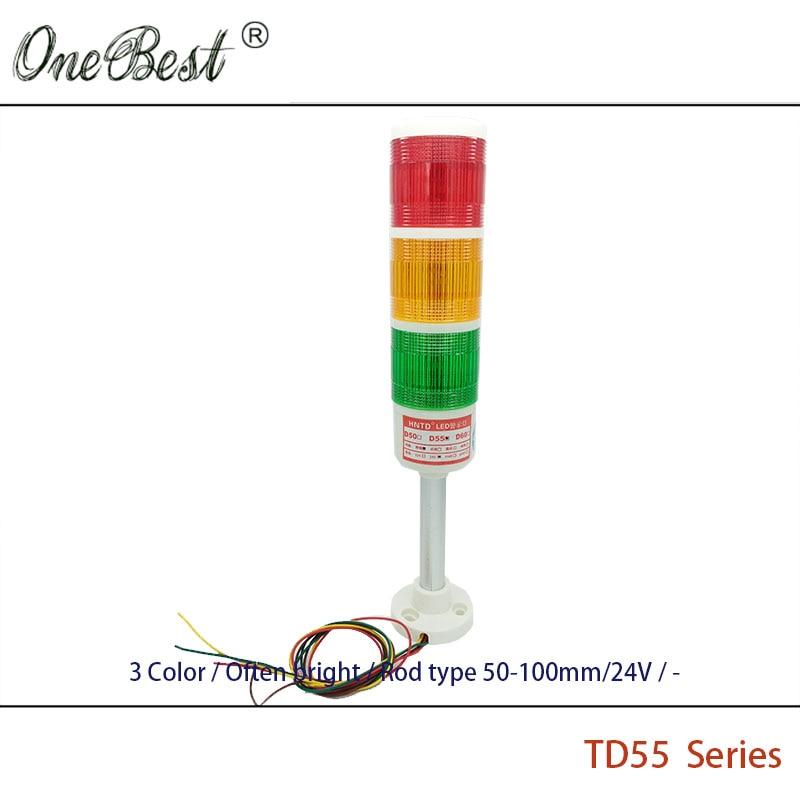 HNTD 24V LED indikator signal Upozorenje Svjetlo TD55 Semafori vrsta - Industrijska računala i pribor - Foto 2