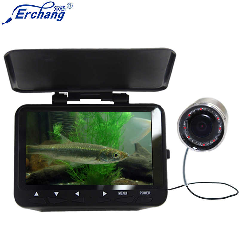 Free Shipping! Erchang F6B 4.3'' Monitor HD 1000TVL Underwater Camera for Sea Fishing Fish Finder in Cameras in English