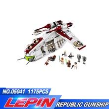 Новый Лепин 05041 натуральная серии Республика Gunship Набор Развивающие Строительные кирпичи игрушки 75021 legoed