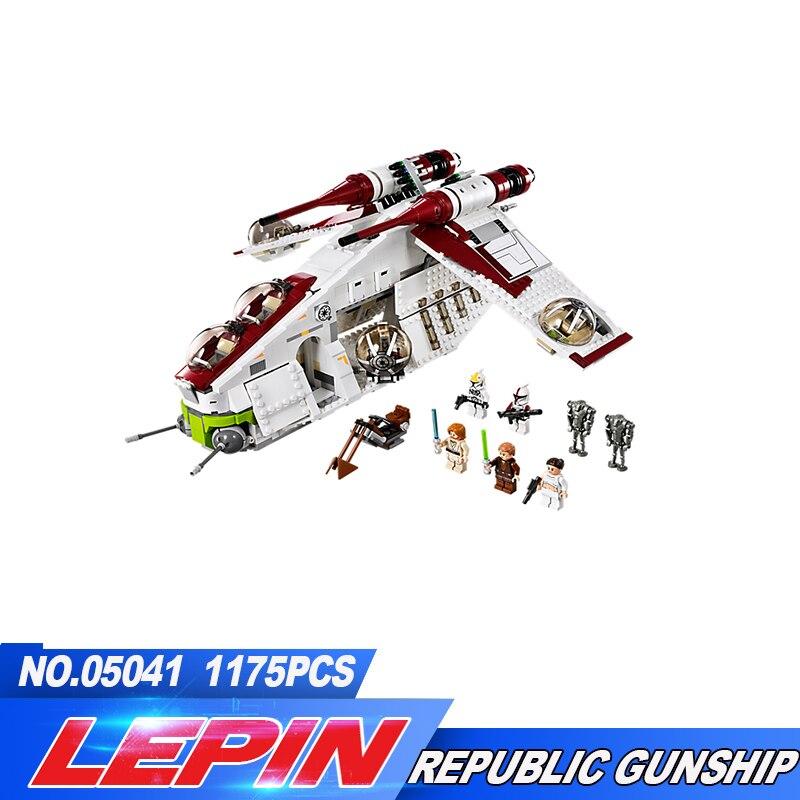 Nouveau Lepin 05041 Véritable Série La La République Gunship Ensemble Éducatifs Briques de Construction Jouets 75021 legoed