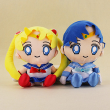 29cm Japan Anime Sailor Moon Plush Tsukino Usagi Mizuno Ami Plush Toy Animal Plush Doll Figure