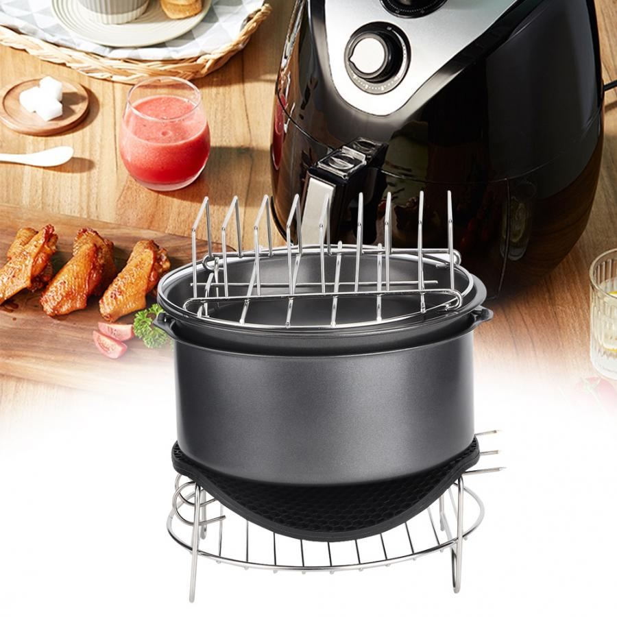 7Pcs/Set Barbecue Air Fryer Accessories Set Kit Parts Home Kitchen Tool for 3.6L Air Fryer 4