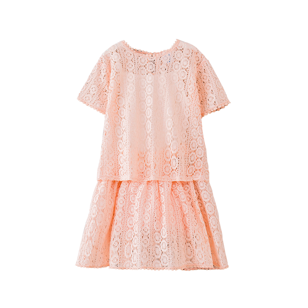 B-S35 New Fashion Summer Girls Casual Set 5-13T Teenager Girls Lace Set Kids Short sleeve T-shirt+Lace Skirt 2pcs Outfit Suit запонки arcadio rossi 2 b 1022 13 s