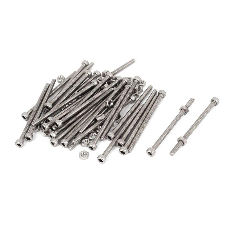 30 sets M3 x 50 mm hexagonal head with bolts nuts knurled screws 10pcs m3 a2 304 thumb screws plain type metric knurled head screws hw155