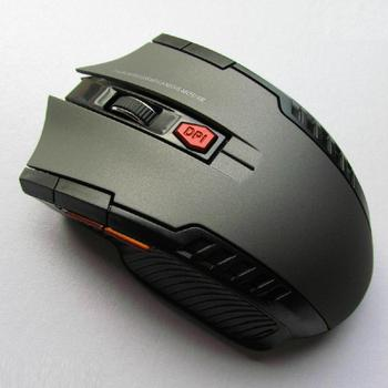 Mini ratón óptico inalámbrico para juegos, Mouse inalámbrico con receptor USB para Juegos de PC, portátiles, ordenador, r57, 2,4 GHz 2