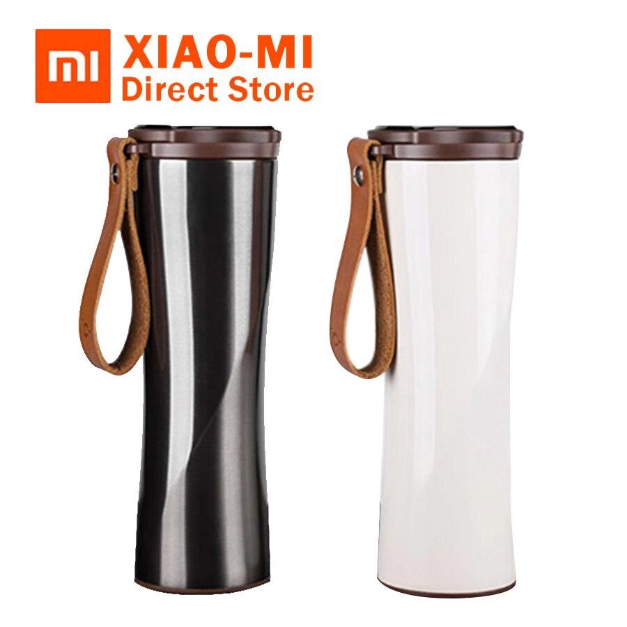 D'origine Xiaomi Mijia embrasse poisson Intelligent acier inoxydable Thermique bouteille d'eau sous vide Sensible Température Capteur Nouvelle bouteille d'eau