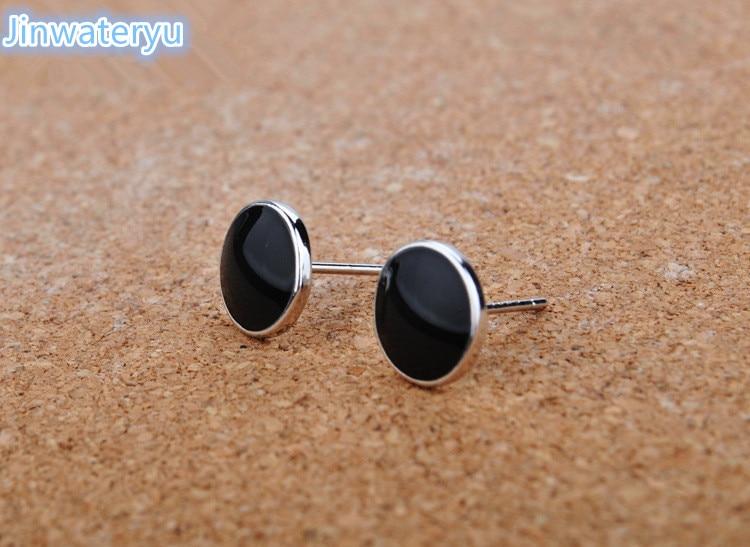 Fashion Jewelry 925 pure silver stud Earring for men, Jinwateryu Mens earrings