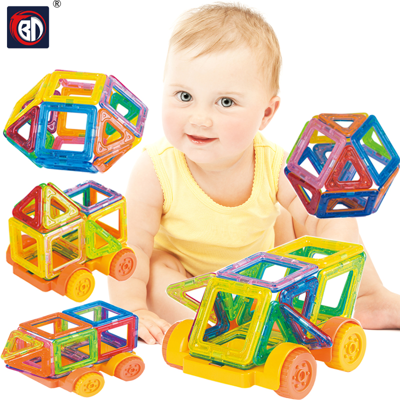 BD 128PCS Mini Magnetic Blocks Model Building font b Toys b font Bricks Educational DIY Magnetic