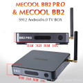 BB2 MECOOL Pro Android TV Box RAM Max 2G/3G/16G Amlogic S912 Octa Núcleo 4 K H.265 Decodificação 2.4G & 5G Dual Band WiFi BT inteligente jogador