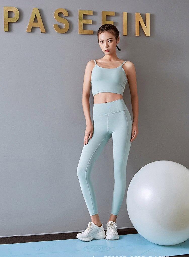 calças de fitness feminino correndo esportes suor
