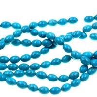 10mm Azul Turquoises Olivar Howlite Oval Gem Contas Loose Strand 15