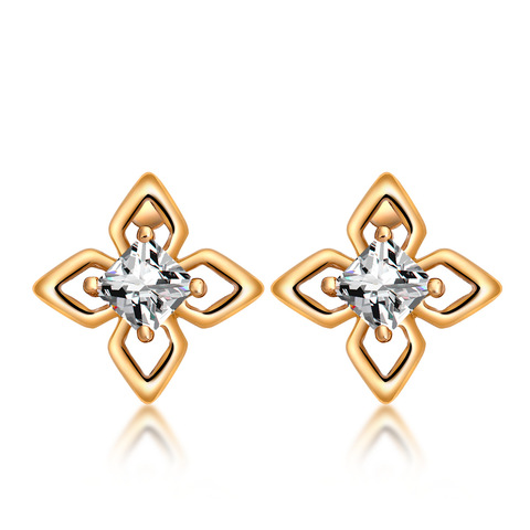 Серьги со звездами милые серьги цветок 2020 золото металл романтический