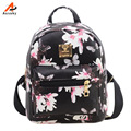 Ausuky Brand new Woman Backpack Hot Sale Floral Printing Girl's School Backpacks Fashion Women's Leather Bag Gift  45