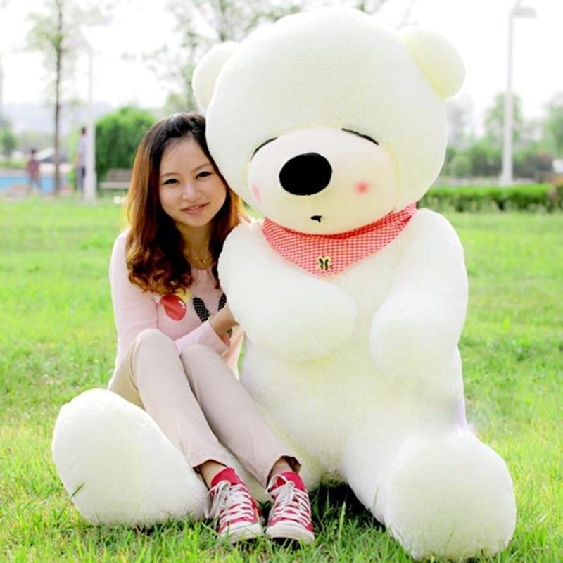 Új megérkezés Nagy méret Teddy Bear Doll Plüss Játék Sál Medvék Nagy Medve Hugs Babák Születésnapi barátnő Ajándékok