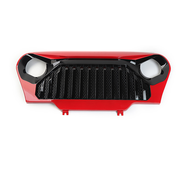 MOPAI Car Front Insert Racing Grille Cover Decoration Trim ABS Exterior Accessories Styling for Jeep Wrangler TJ 1997-2006