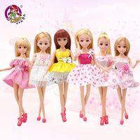 Lelia poupée de mode étoiles action figure modèles mignon bricolage américain toys pour les filles poupées enfants princesse ensemble robe ami belle