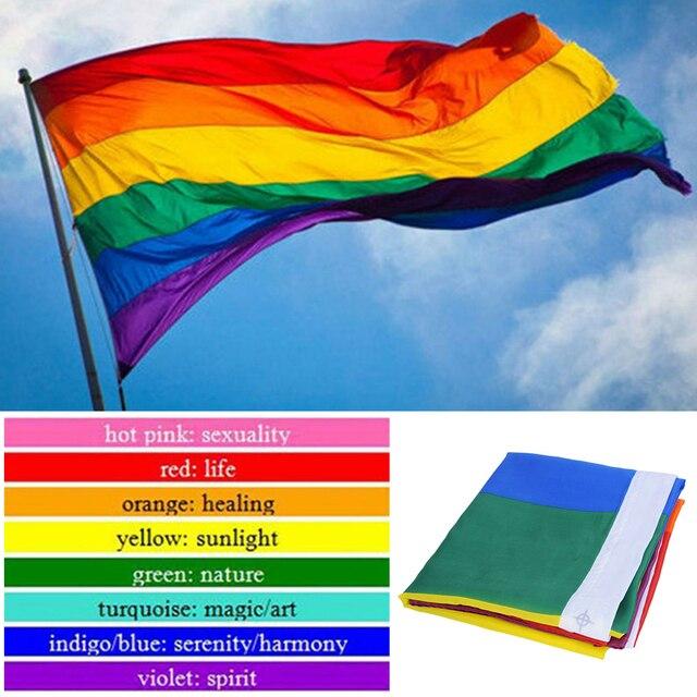 1 шт. 90*150 см ЛГБТ флаг для людей нетрадиционной ориентации красочный Радужный Флаг для геев домашний декор гей дружественный ЛГБТ флаг ЛГБТ Прайд флаг