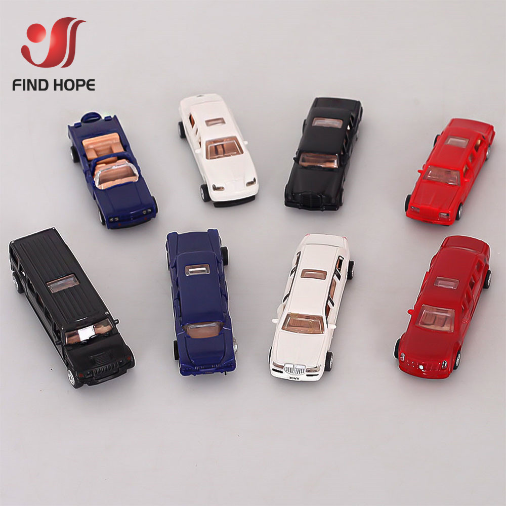 1:87 4D Luxury Limousines Car Assembly Puzzle Model Lincoln Rolls HUMMER Cadillac World Famous Collection Random Color