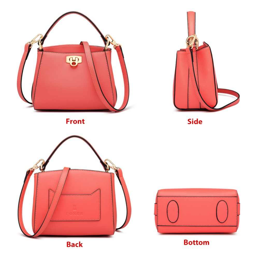 FOXER 브랜드 2019 새로운 패션 여성 세련 된 핸드백 여성 우아한 Totes 섹시 한 숙 녀 여성을위한 고품질 어깨 가방
